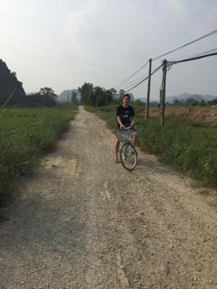 レンタル自転車で外出