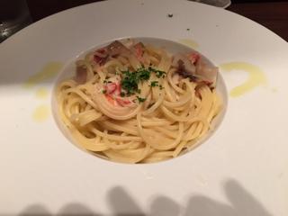 本ズワイガニとポルチーニ茸のスパゲッティーニ