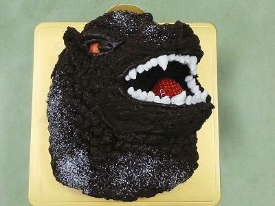 ゴジラのケーキ