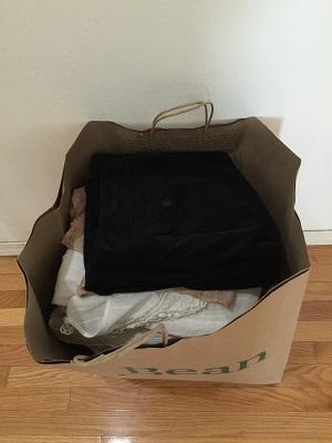 断捨離した服 紙袋