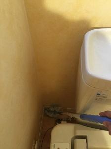 トイレ 隅掃除