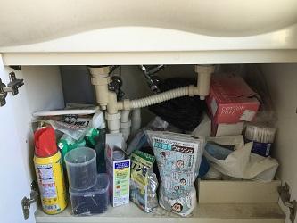 ビフォー洗面台の下