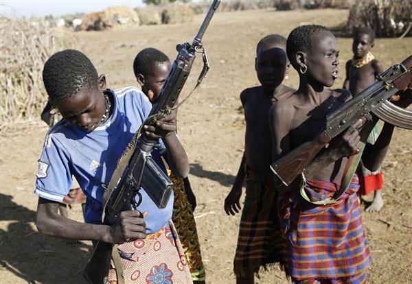 南スーダンの少年兵