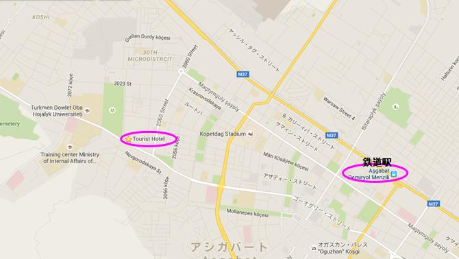 ツーリストホテル地図