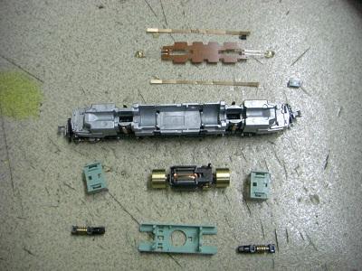 EF58 61分解後