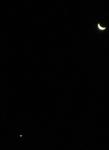 2015年12月7日の月と金星