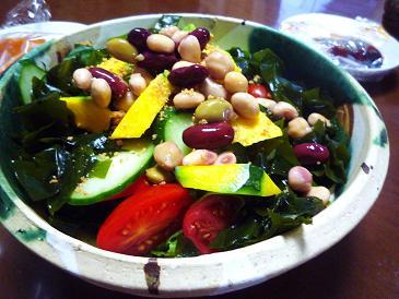 豆とかぼちゃのサラダ (2)