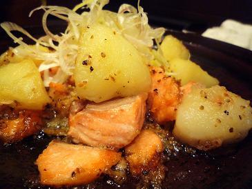 秋鮭とジャガイモ塩だれ