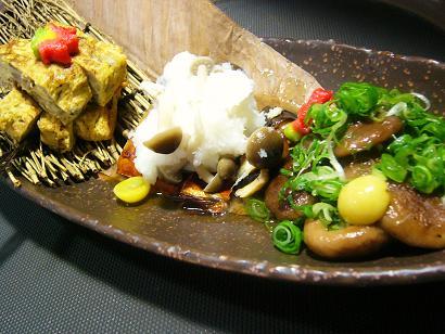 """秋の""""おばんざい""""サバ・椎茸・舞茸玉子 (3)"""