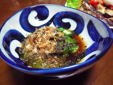納豆・おくら・メカブ・黒ゴマ・酢