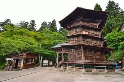 福島県 会津さざえ堂の全景写真
