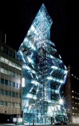 夜に撮られた 東京都 ジ・アイスバーグビルのデジカメ写真