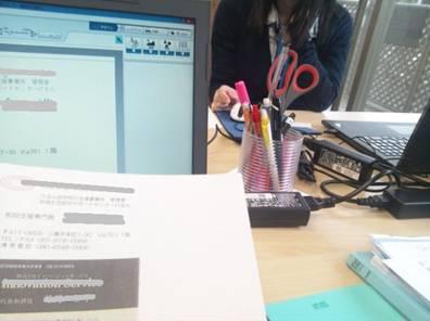 障害者就労継続支援A型事業所でPCで名刺作成作業で楽勝