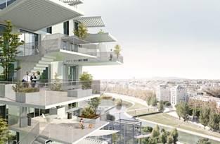 藤本壮介氏の最新プロジェクトによるフランス/モンペリエ -L'Arbre Blancの17階建て複合施設の住居部分の完成パース図面