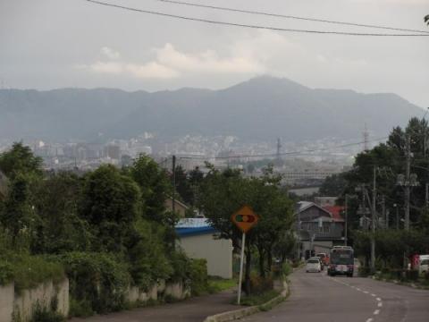 四稜郭付近より函館山を望む