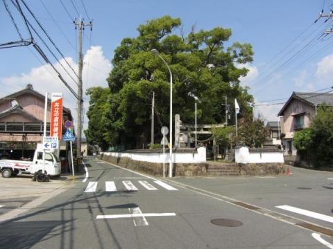 大社神社と旧東海道