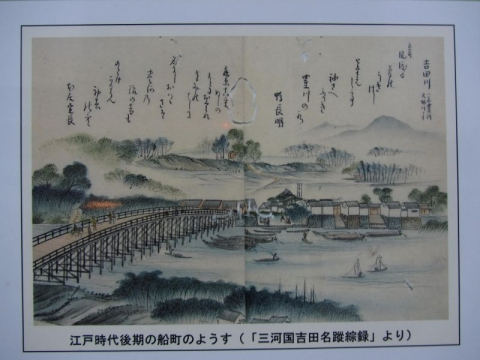 江戸時代後期の吉田橋と吉田湊