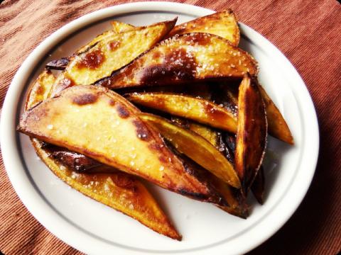 サツマイモの揚げ焼き