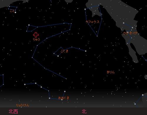 20151009 10月りゅう座流星群星図