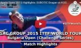スボティッチの試合 ブルガリアオープン2015