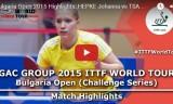 ジョアンナの試合 ブルガリアオープン2015