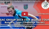 ポポフの試合(予選) ブルガリアオープン2015