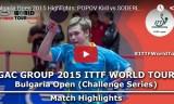 ポポフの試合(1回戦) ブルガリアオープン2015
