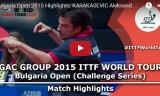 カラカセビッチの試合 ブルガリアオープン2015