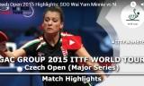 女子の試合(予選) チェコオープン2015