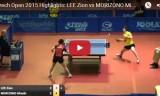 森薗美咲VS李ジオン(1回戦)チェコオープン2015