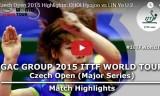 チェVSリンイエ(U21決勝) チェコオープン2015