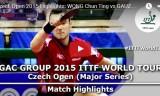 黃鎮廷VSゴーズィ(準決勝) チェコオープン2015