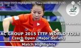 帖雅娜VSフー(準々決勝) チェコオープン2015