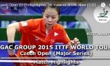 帖雅娜VS田志希(準決勝)チェコオープン2015