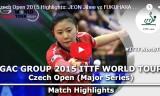 福原愛VS田志希(決勝戦)チェコオープン2015
