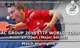 ハベゾーンの試合(予選)オーストリアオープン2015