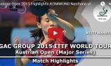 リュウジャーの試合(1回戦)オーストリアオープン2015
