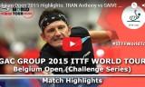 セイブの試合(1回戦)ベルギーオープン2015