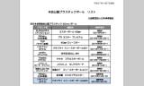 日本卓球協会公認プラスチックボールリスト