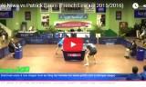 丹羽孝希VSバウム(10/13対戦)フランスリーグ2015