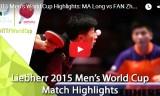 馬龍VS樊振東(決勝戦)男子ワールドカップ2015