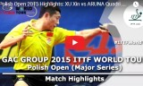 許昕VSアルナ(2回戦)ポーランドオープン2015