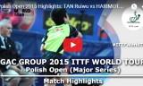 張本智和VS譚瑞午(予選)ポーランドオープン2015