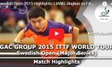 樊振東VS梁靖崑(準決勝)スウェーデンオープン2015