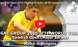 樊振東VSシェルベリ(準々)スウェーデンオープン2015