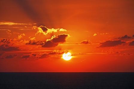 夕陽9月13日18時41分 P1070176