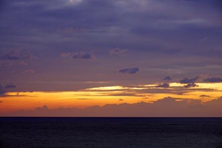 帯状夕焼け9月13日 P1070203