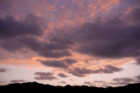 朝焼け雲11月1日6時41分 P1100037