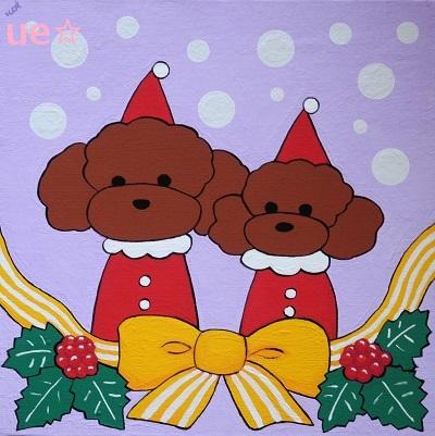 クリスマス(プードル) - コピー