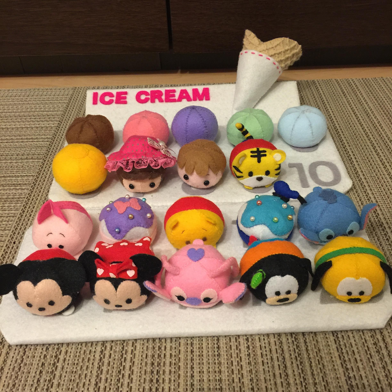 ☆フェルトママ☆ ツムツムのアイス